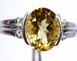 17.30 CTS CITRINE SILVER RING SG-3041