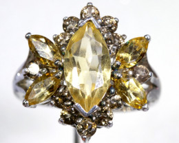 25.65 CTS CITRINE SILVER RING SG-3042