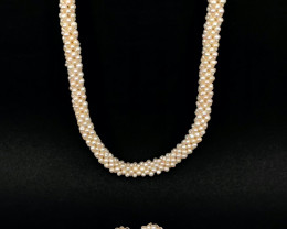 Natural Pearls Necklace with Tops By DANI Jewellery
