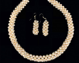 Natural PearlsNecklace with Earring by DANI Jewellery
