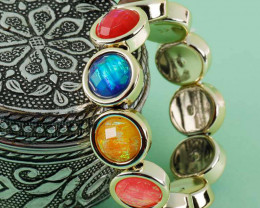 Multi-Colour Stone Coff And Kada Bracelet For Girls And Women
