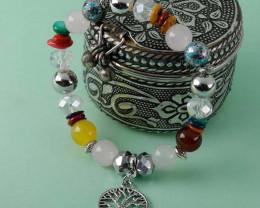 Victorian Charm Multi-Colour Bracelet For Girls And Women