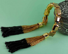 Elegant Brown Colour Stone Harmony Coff And Kada Bracelet