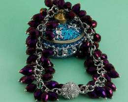 Purple Pearl Diamond Bracelet For Girls And Women