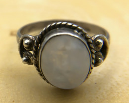 13.61 Crt Natural Moonstone 925 Silver Ring