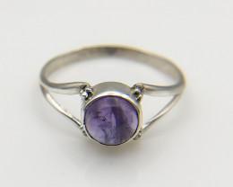 6.23 Crt Natural Amethyst 925 Silver Ring