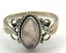 12.77 Crt Natural Rose Quartz 925 Silver Ring