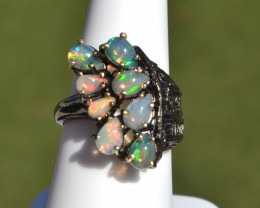 Opal in Sterling Silver Ring -- 7.38 Grams