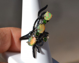 Opal in Sterling Silver Ring -- 5.52 Grams