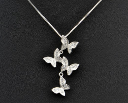 925 Silver and CZ Pendant Top Finishing