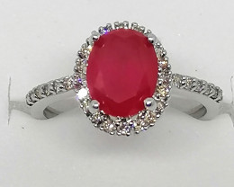 Ruby and Diamond Ring 2.55 TCW