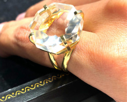 Stunning Fashion Quartz Brazilian ring BR 2450