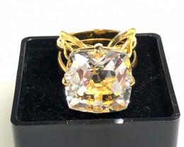 Stunning adjustable  Fashion Quartz Brazilian ring BR 2475