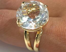 Stunning adjustable  Fashion Quartz Brazilian ring BR 2477