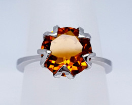 Natural Madeira Citrine 925 Sterling Silver Ring (NJT20)