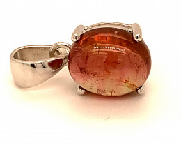 Rubellite 3.77ct or Red Tourmaline Rhodium Finish Solid 925 Sterling Silver