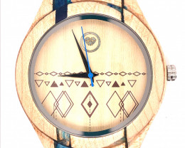 Turquoise Treasures Eco Friendly Bamboo watch WO 81