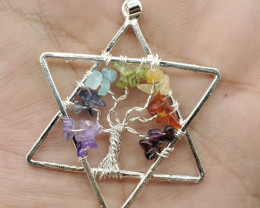 Chakra Healing Pendant 41.70 Carats  Made With Natural Gemstones C3