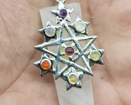 Chakra Healing Pendant 85.00 Carats Made With Natural Gemstones C4