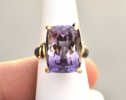 Amethyst Ring in Sterling Silver -- 8.63 Grams