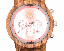 Female Rose Gold Treasures Eco Friendly Bamboo watch WO 114
