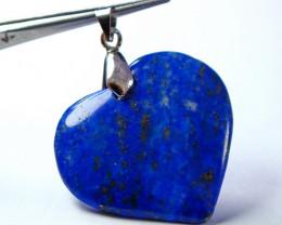 54.10 CT Natural lapis lazuli Heart Stone  Shape Pendant