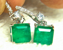 15.04 Tcw. Emerald Sterling Silver Doublet - Gorgeous