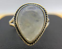 17.71 Crt Natural Moonstone 925 Silver Ring