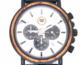 Marble Treasures Eco Friendly Bamboo watch WO 192