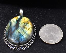 Genuine 115.00 Cts Amazing Flash Labradorite Pendant