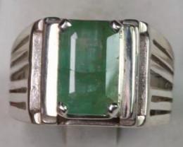 4.73 cts Natural Emerald Transparent for men Handmade 925 Sterling silver r