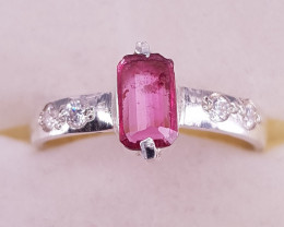 Natural Tourmaline Ring With Silver 925