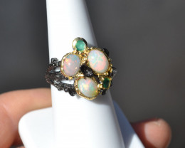 Opal in Sterling Silver Ring