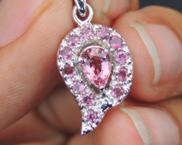 Baby Pink Tourmaline in Silver