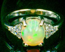Natural Opal Sparkiling Gemstone. Silver925 Ring.DOP 104