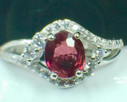 Natural Rhodolite Garnet Beautifulist Silver925 Ring. DRG 96