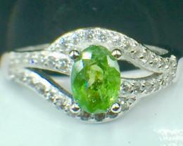 Natural Rare Copper Tourmaline Beautiful Gemstone. Silver925 r Ring. DCT 99
