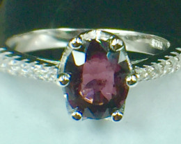 Natural Spinel Sparkiling Gemstone. Silver925 Ring. DSP 102