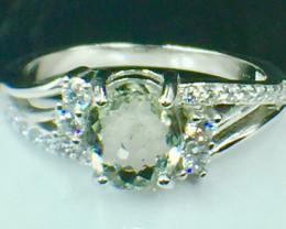 Natural Rare Copper Tourmaline Beautiful Gemstone. Silver925  Ring. DCT 103