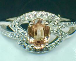 Natural Morganite  Gemstone. Silver925 Ring. DMN 106