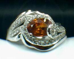 Natural Zircon Gemstone. Silver 925 Ring. DZN 108
