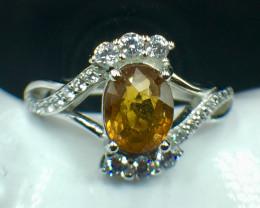 Natural Mali Garnet Beautifulist Silver 925 Ring.  DMG 109