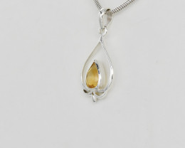 CITRINE PENDANT 925 STERLING SILVER NATURAL GEMSTONE JP116