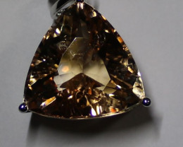 Imperial Topaz 27.00ct Solid 18K White Gold Pendant