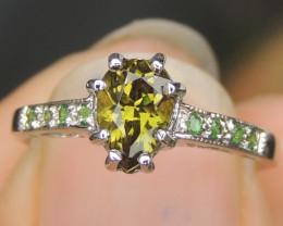 Tsavorite Ring,  Top Cut Top Clairity $3000
