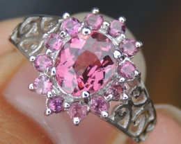 Black Friday Deal - Malaya Garnet, Tourmaline & Sapphire Ring