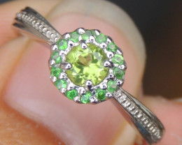 Peridot  & Tsavorite Ring