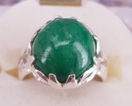 Natural Emerald Cab Ring
