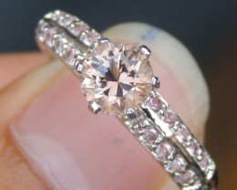 Tourmaline  & Pink Sapphire Ring