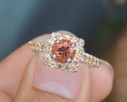 Tourmaline & Sapphire Ring